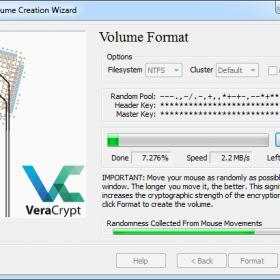 cryptage volume usb