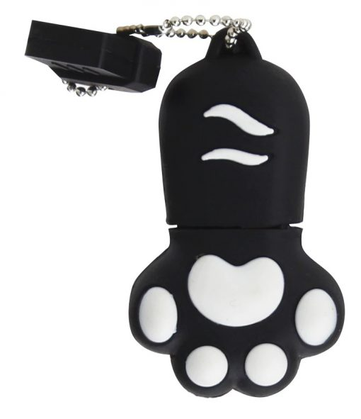 clé usb patte de chat noir 64go